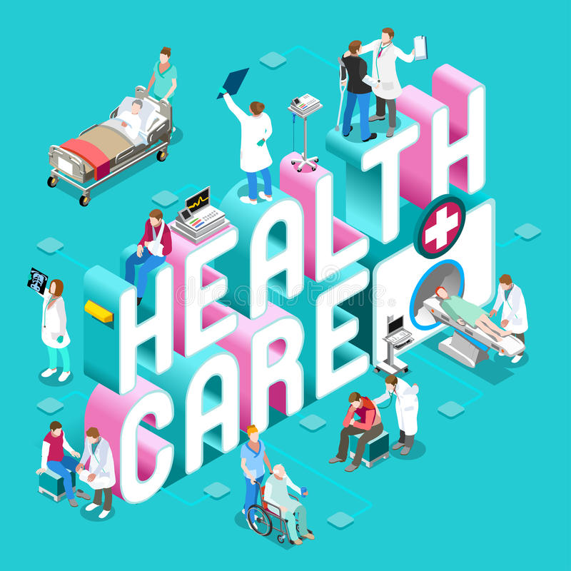 Healthcare 01 Concept Isometric vector illustration