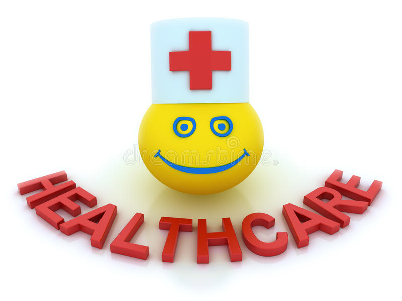 Healthcare concept with a smile symbol vector illustration