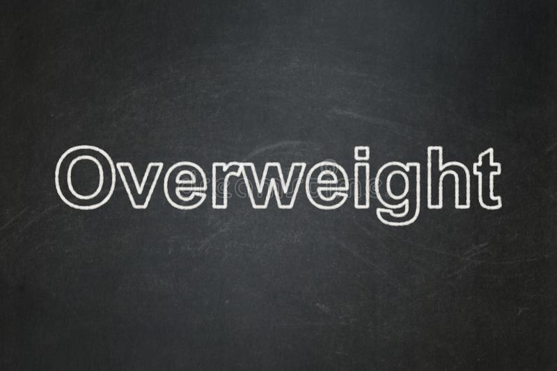 Healthcare concept: Overweight on chalkboard background royalty free stock photo