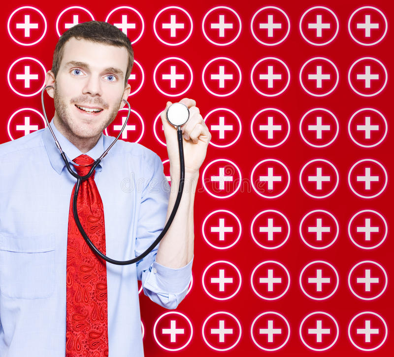 Download Healthcare Doctor With Smile On Medical Background Royalty Free Stock Image - Image: 27490406