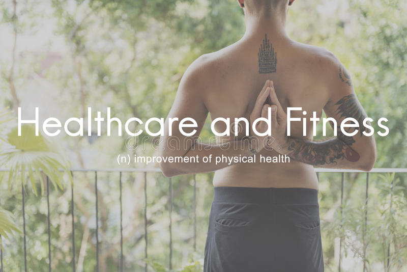 Healthcare And Fitness Outdoors People Graphic Concept royalty free stock image