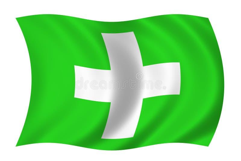 Healthcare flag vector illustration