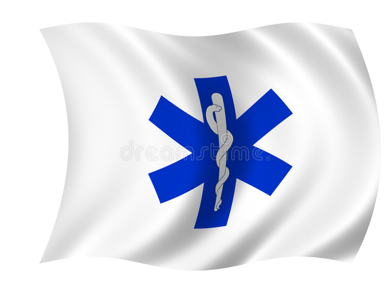 Healthcare flag stock photography