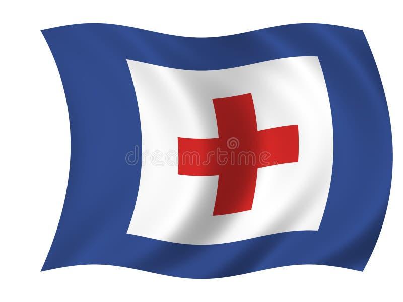 Healthcare flag stock illustration