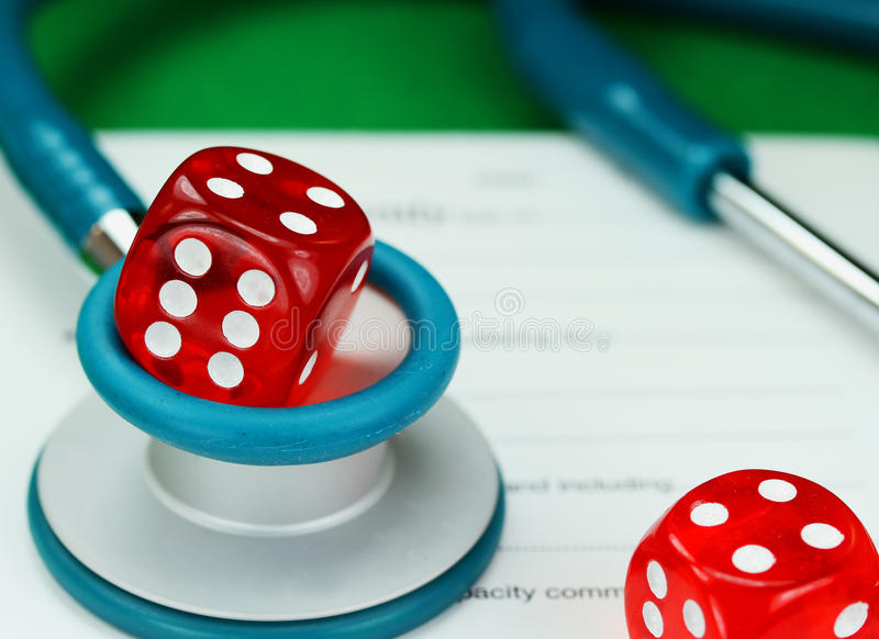 Healthcare Gamble royalty free stock photo