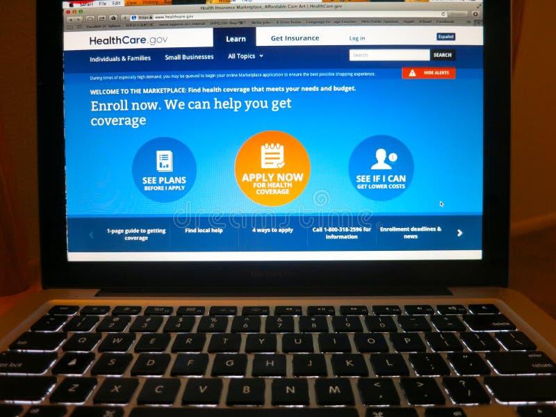 Healthcare.gov royalty-vrije stock afbeelding