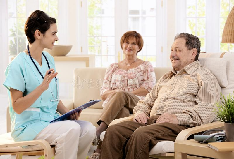 Healthcare at home stock photo