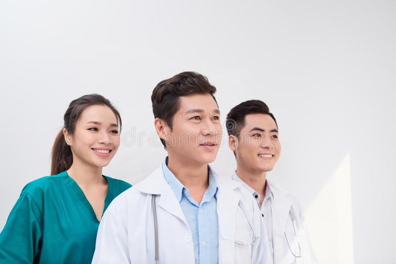 Healthcare, hospital and medical concept - young team or group of doctors royalty free stock images