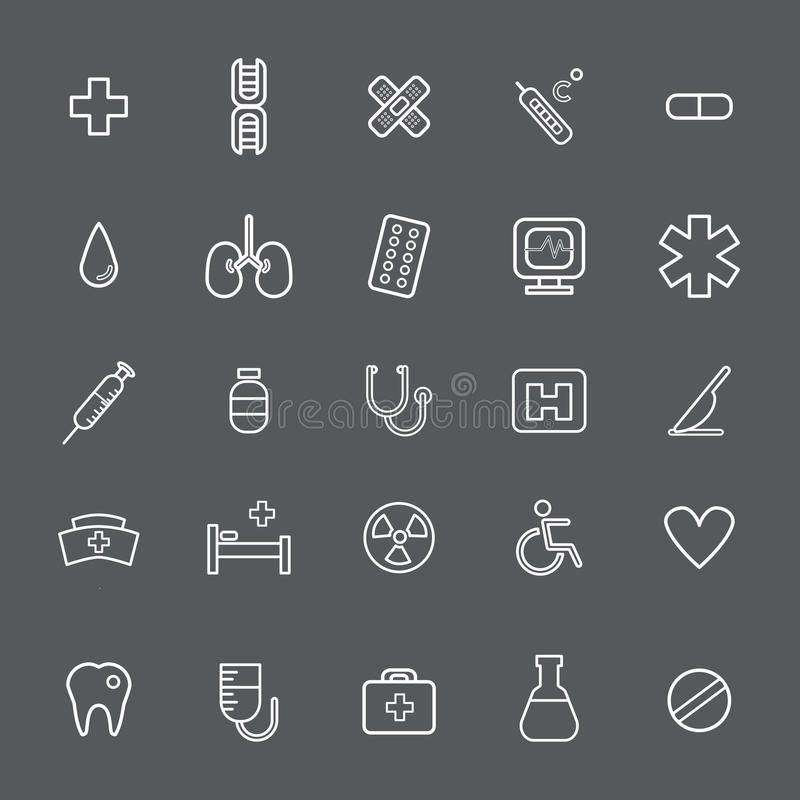 Healthcare medical icon vector collection Concept royalty free illustration