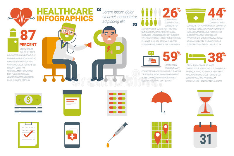 Healthcare and medical infographic concept royalty free illustration