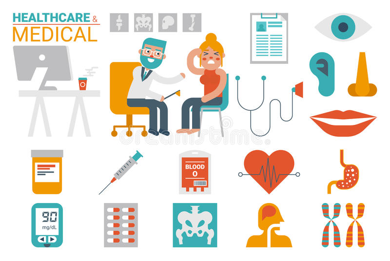 Healthcare and medical infographic royalty free illustration