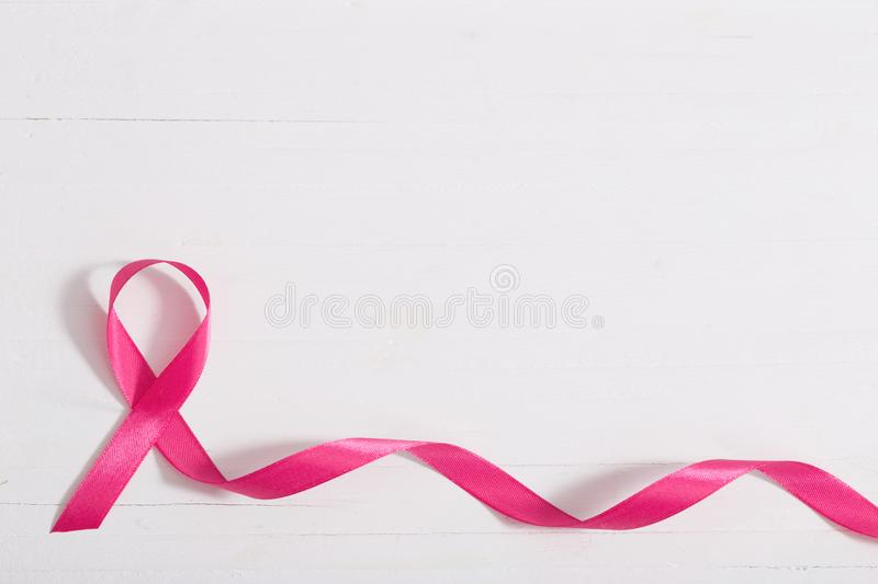 Healthcare and medicine concept. pink breast cancer awareness ri stock image