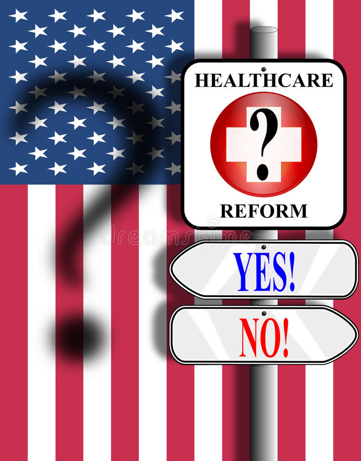 Download Healthcare Reform USA Sign And Flag Stock Illustration - Image: 10687202