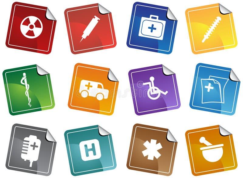 Healthcare Sticker royalty free illustration