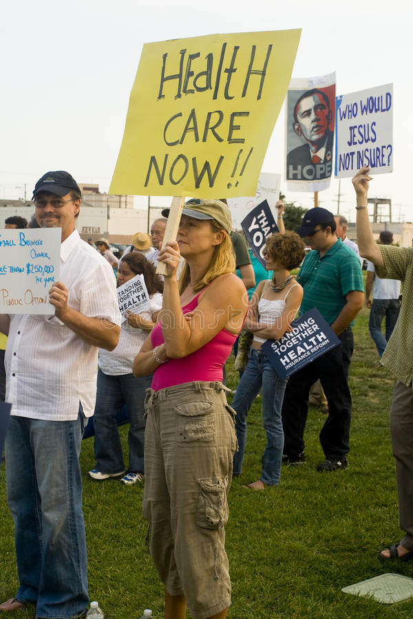 Free Healthcare Supporters Rally In Los Angeles Royalty Free Stock Photo - 10796575