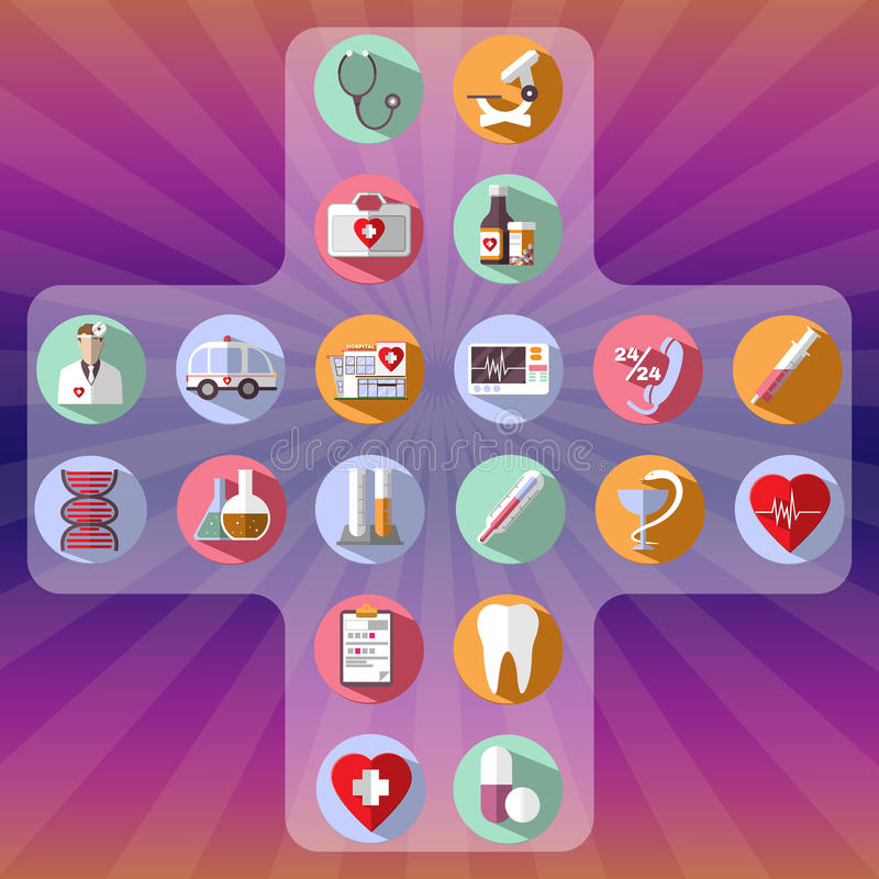 Healthcare vector icon set. royalty free illustration