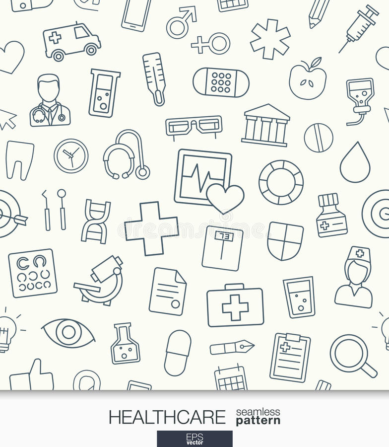 Delightful Download Healthcare Wallpaper. Medical Seamless Pattern. Stock Vector    Illustration Of Design, Illustration
