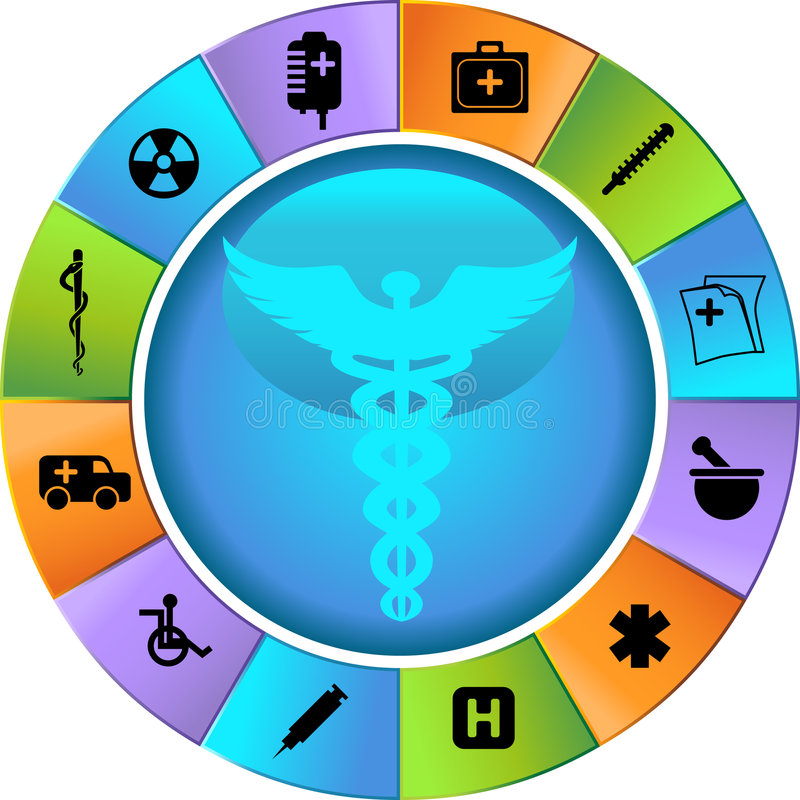 Healthcare Wheel royalty free illustration