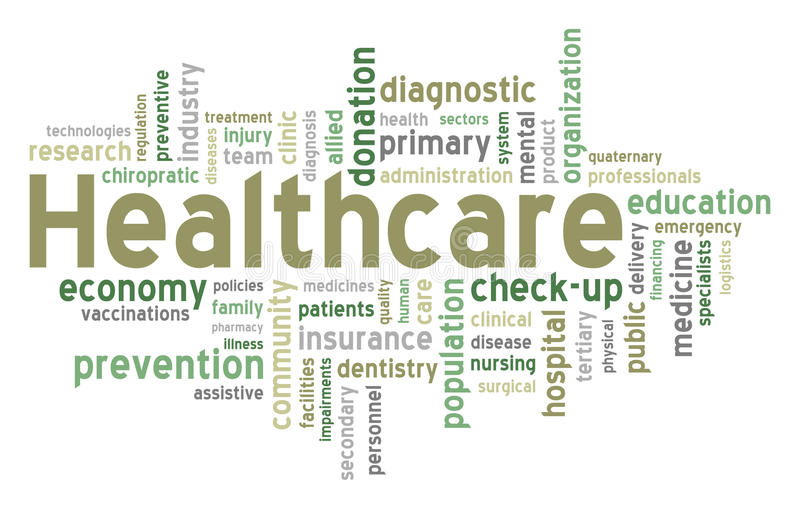 Healthcare Word Cloud vector illustration