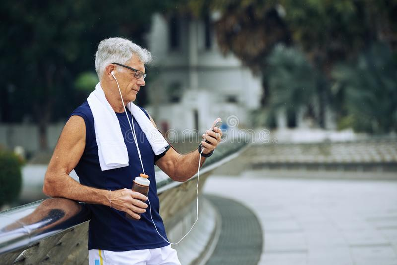 Healthy aged man royalty free stock image