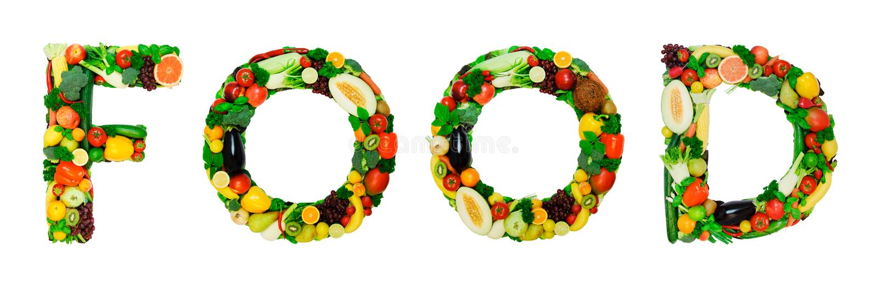 Healthy Alphabet - FOOD Stock Photo - Image: 42945383