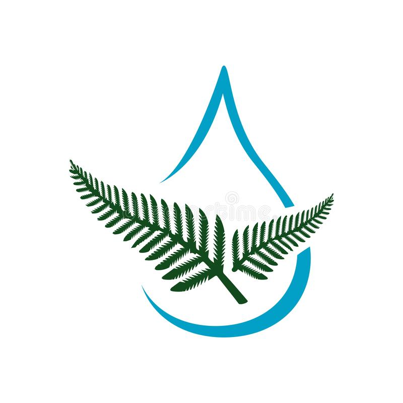 healthy aqua organic water sign logo design vector element royalty free illustration