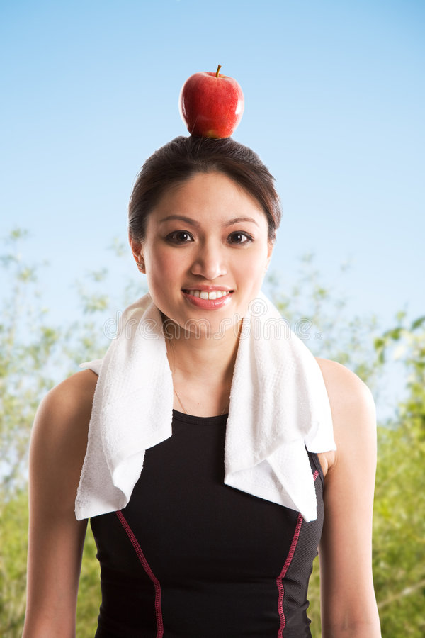 Healthy asian woman stock image