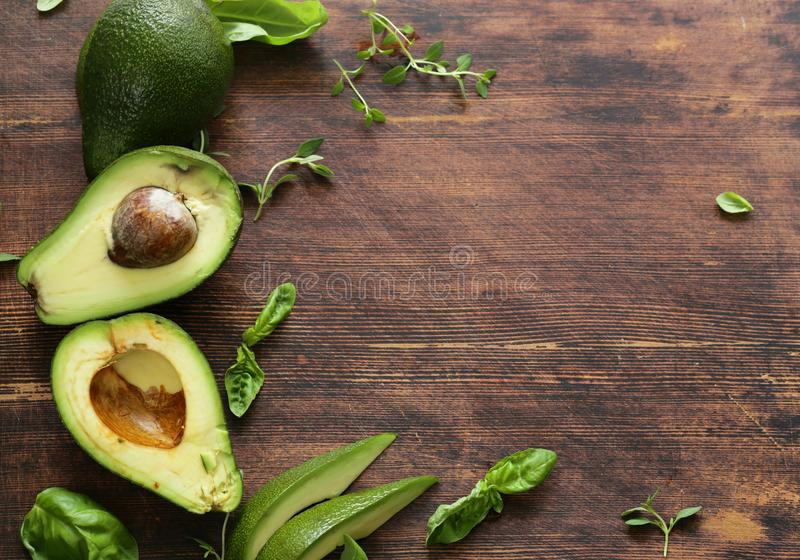 Healthy avocado food royalty free stock photos