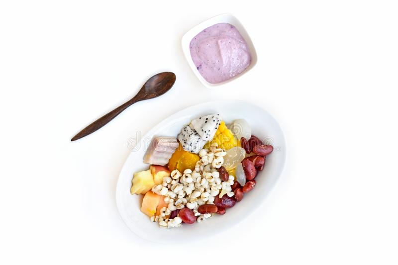 Healthy balanced vegetarian food stock images