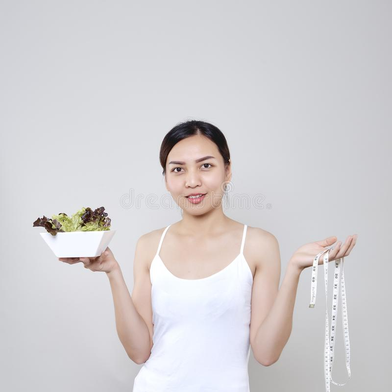 Healthy Beautiful Asian woman smiling stock photo