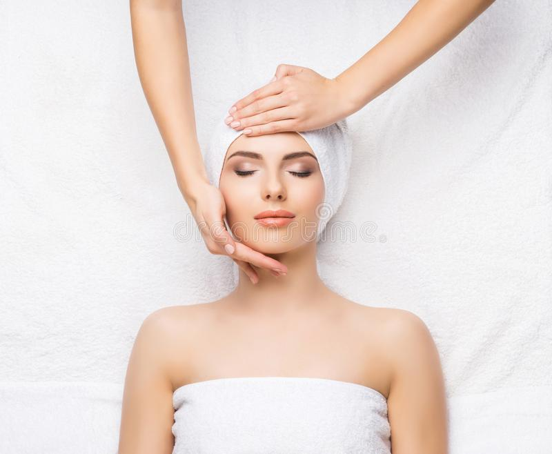 Healthy Beautiful Woman Spa. Recreation Energy Health Massage Healing Concept. royalty free stock photos