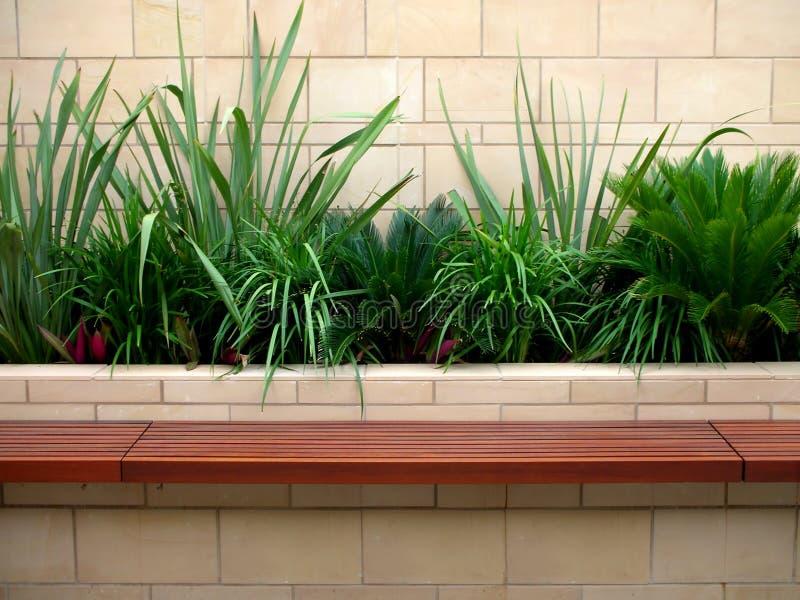 Healthy bench seat garden stock photos