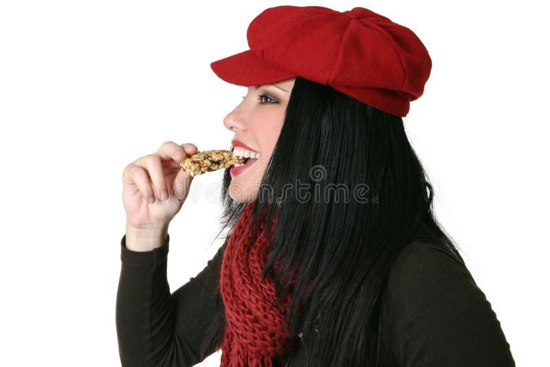 Download Healthy Bite stock photo. Image of brunette, bite, taste - 1371706