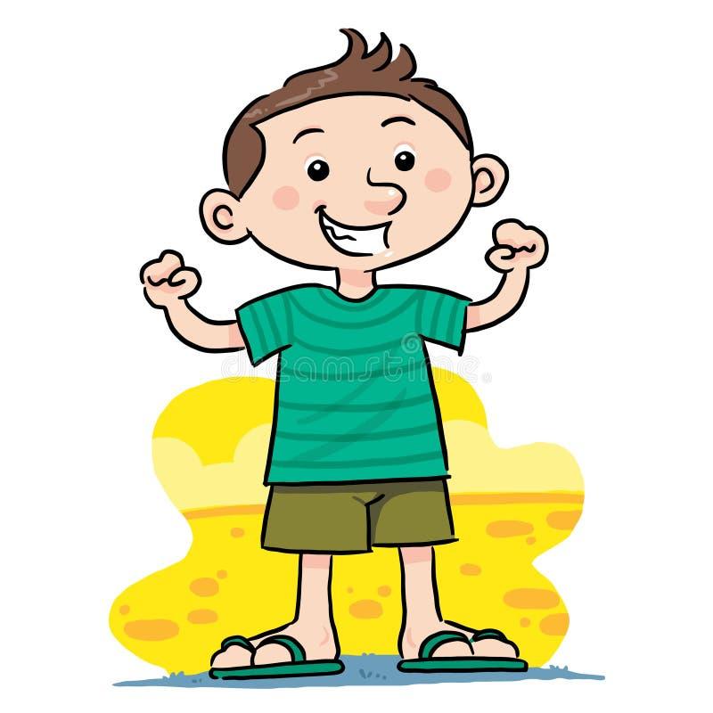 Healthy boy stock vector. Illustration of tough, cartoon ...