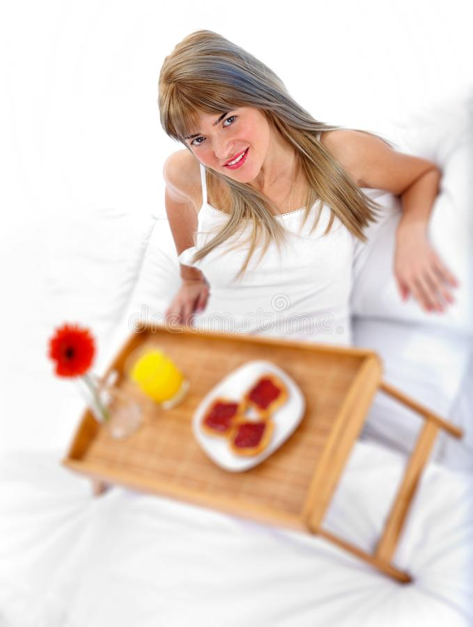 Healthy Breakfast In Bed Royalty Free Stock Photo