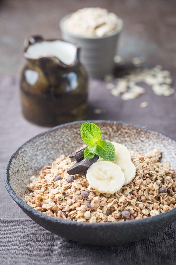 Healthy breakfast bowl. stock image