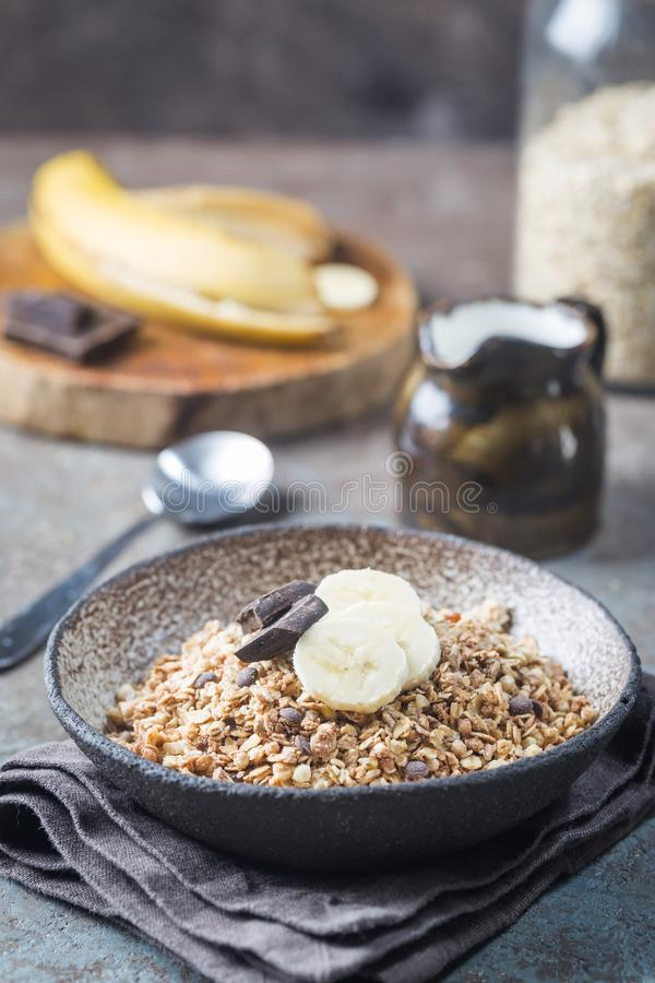 Healthy breakfast bowl. stock photos