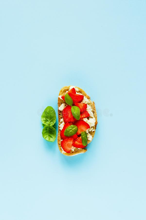 Healthy breakfast composition stock image