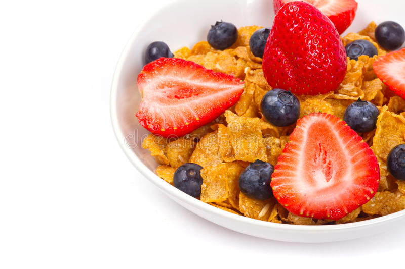 Download Healthy Breakfast With Corn Flakes And Fruits Stock Image - Image: 22844531