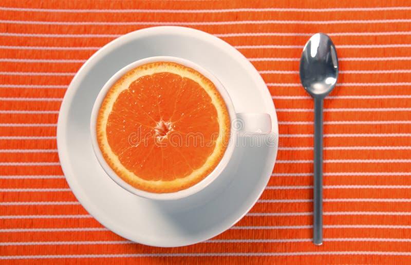 Download Healthy Breakfast Cup Of Orange Instead Caffeine Stock Photo - Image: 8971578