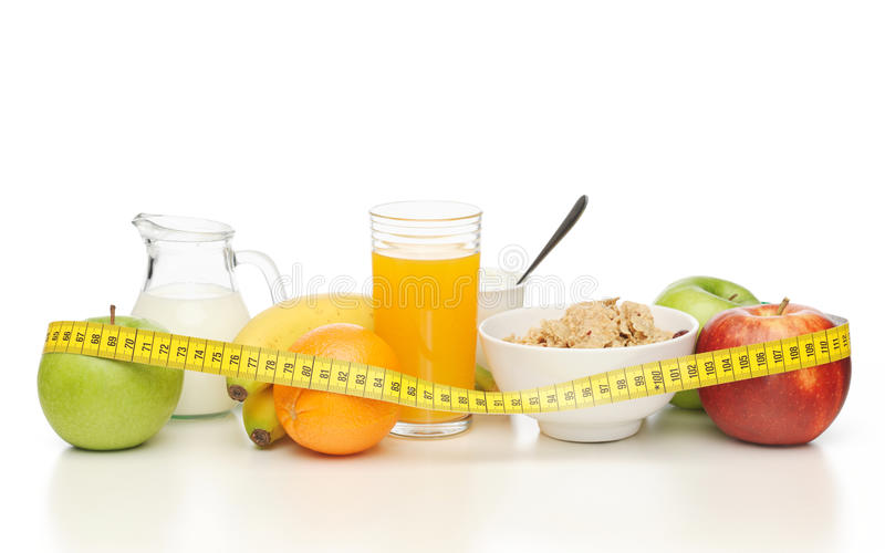 Download Healthy Breakfast And Measuring Tape Stock Photo - Image: 32103172