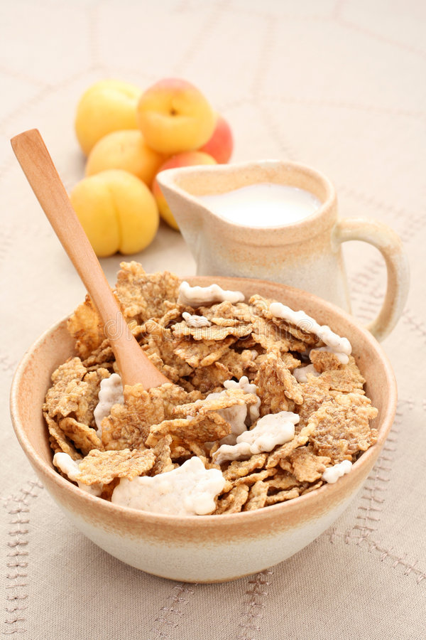 Healthy breakfast - musli and fruits royalty free stock photography