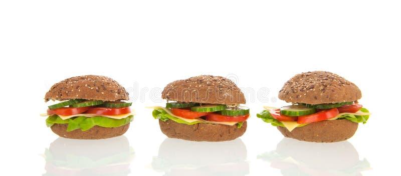 Download Healthy brown bread rolls stock image. Image of studio - 38443543
