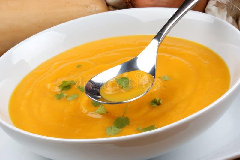 healthy butternut squash creme soup stock image