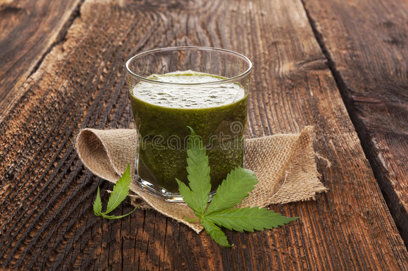 Healthy cannabis smoothie. royalty free stock photography