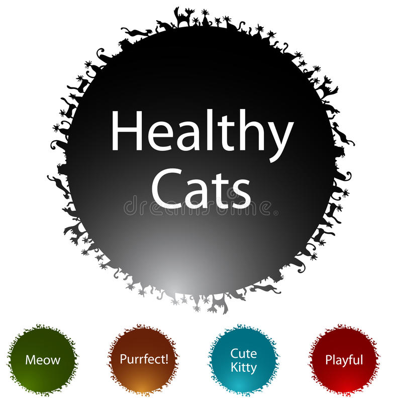 Download Healthy Cats stock vector. Image of icon, clip, white - 19058488