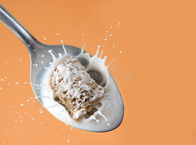 Healthy cereal splash stock images