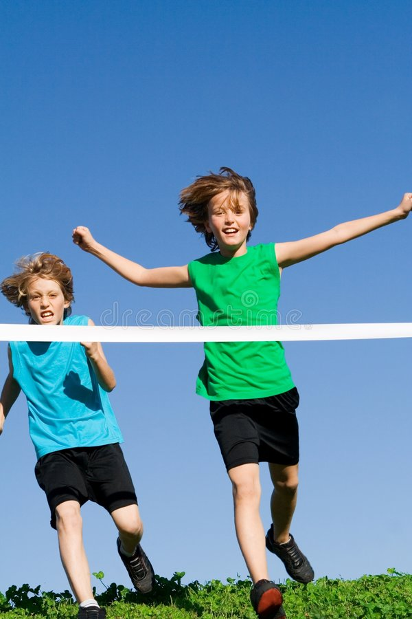 Free Healthy Children Running Race Royalty Free Stock Images - 4092069