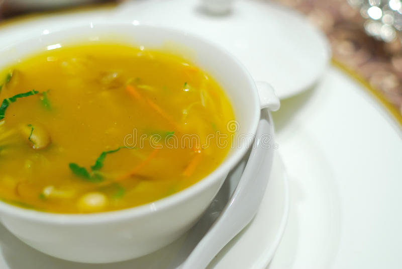 Healthy, Chinese vegetarian shark's fin soup stock images