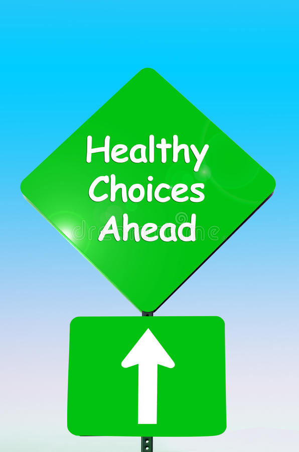 Healthy choices ahead royalty free stock images